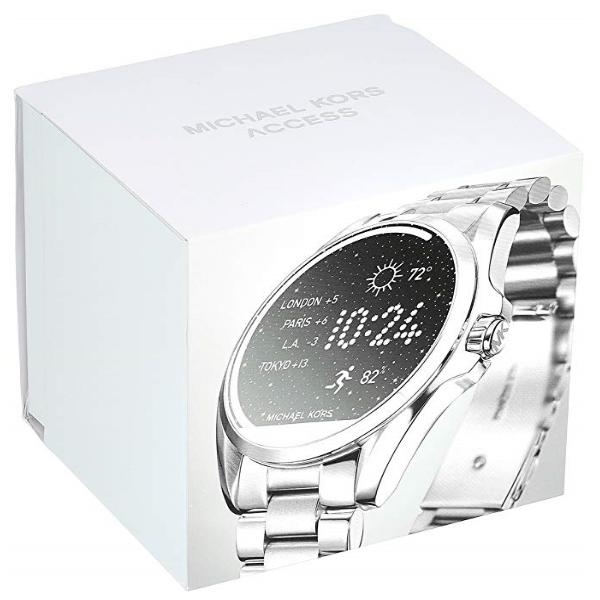 f6b4372b9 Relógio Unissex Michael Kors – Access Bradshaw Smartwatch – Silver Modelo  MKT5012